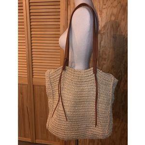 Handbags - braided tote bag